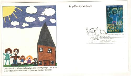 2003 Semipostal - Stop Family Violence Classic First Day Cover