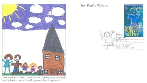 2003 37c+8c Stop Family Violence,non-den