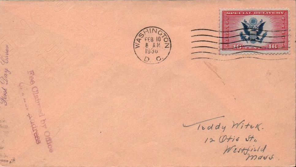 1936 16c Airmail Spec Delivery