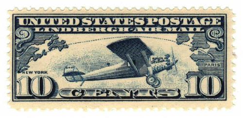 1927 10c Lindbergh Iss dk blue