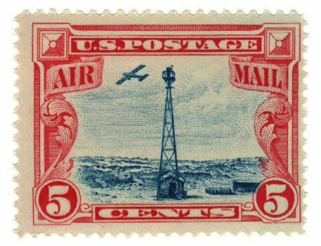 1928 5c Beacon on Rocky Mountains