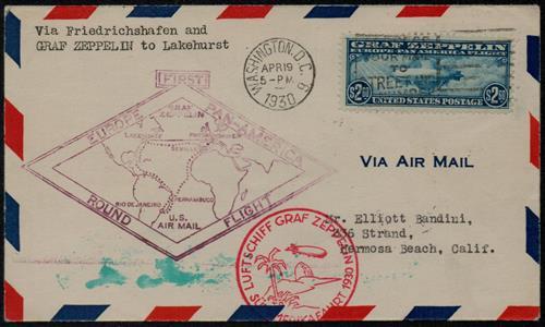 1930 $2.60 Graf Zeppelin blue