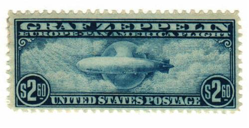 1930 $2 60 Graf Zeppelin blue for sale at Mystic Stamp Company