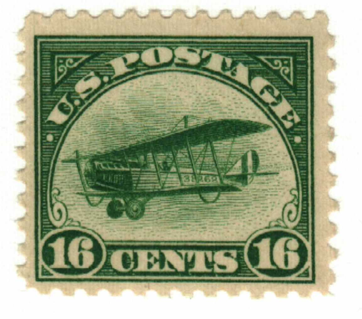 1918 16c Curtiss Jenny Green For Sale At Mystic Stamp Company