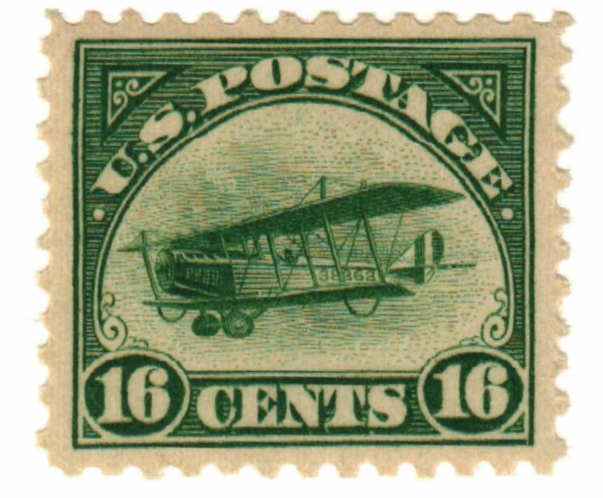 1918 16c Curtiss Jenny, green