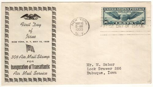 1939 30c Trans-Atlantic Issue