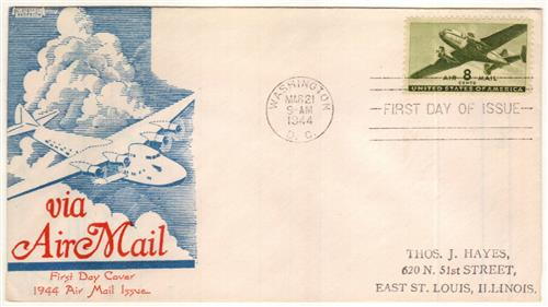 1944 8c Rotary Press