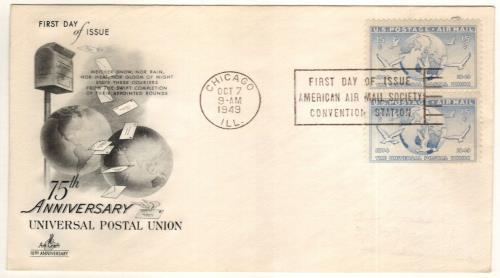 1949 15c Globe & Doves