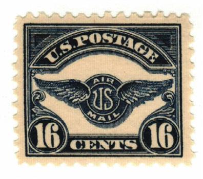 1923 16c Air Service Emblem, dark blue