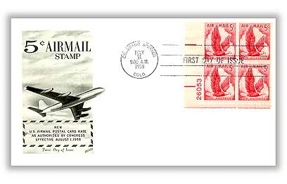 1958 5c Airmail Design of 1954