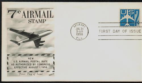 1958 7c Jet Airliner,bklt single