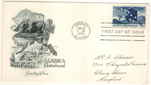 1959 7c Alaska Statehood
