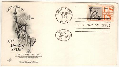 1959-61 15c Statue of Liberty