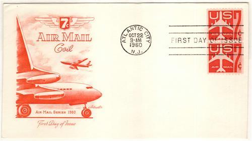 1960 7c Jet carmine