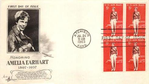 1963 8c Amelia Earhart