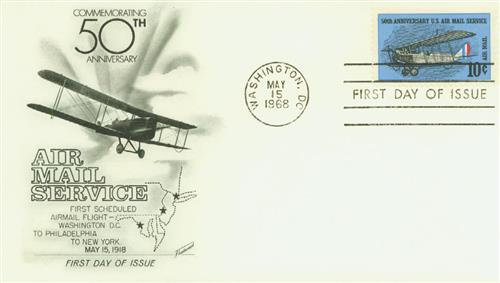 1968 10c 50th Anniv Air Mail