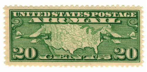 1927 20c Airmail Perf 11