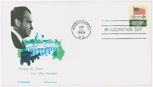 1969 Inauguration Cover - President Richard M. Nixon
