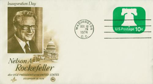 1974 Inauguration Cover - Vice-President Nelson A. Rockefeller