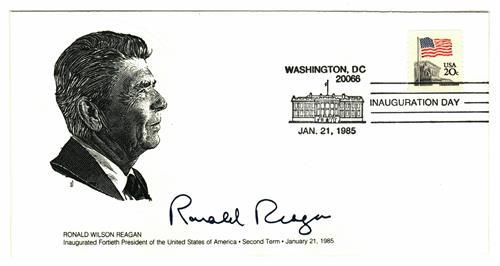 1985 Inauguration Cover - President Ronald Reagan