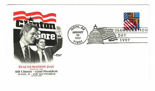 1997 Inauguration Cover - President William J. Clinton