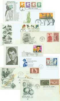 100 Different US FDC's 1940 to present