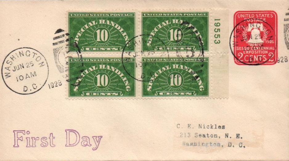 1928-55 Special Handling 10c