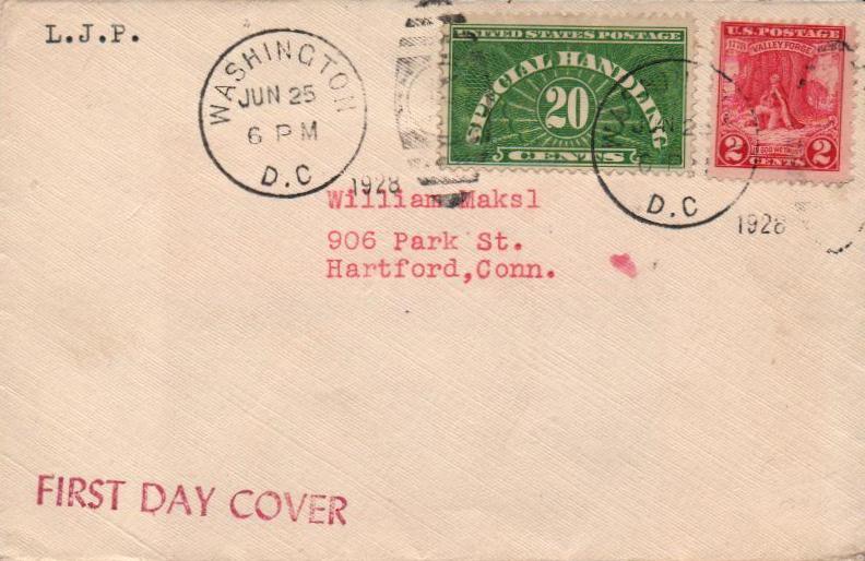 1928-55 Special Handling 20c