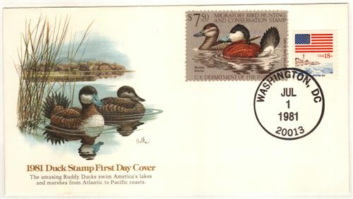 1981 $7.50 Ruddy Ducks
