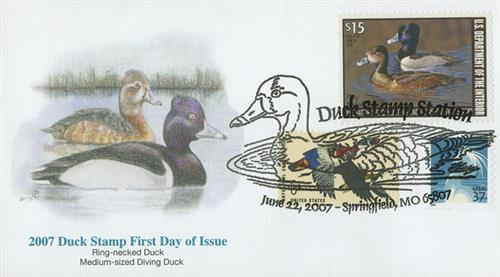 2007 $15.00 Ring-Necked Duck