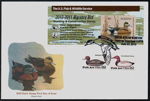 2010 $15 American Wigeon Hunting Permit, self adhesive