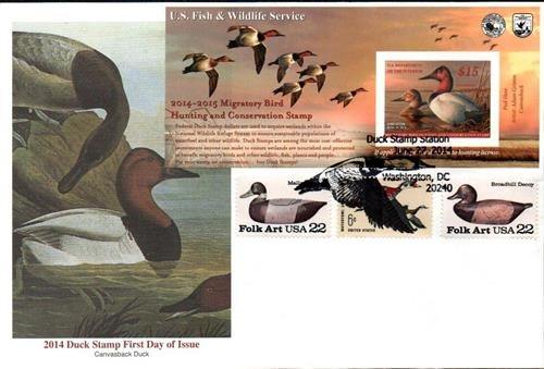 2014 $15 Canvasback Hunting Permit-pane
