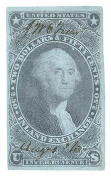 1862-71 $2.50 Inland Exchange, purple