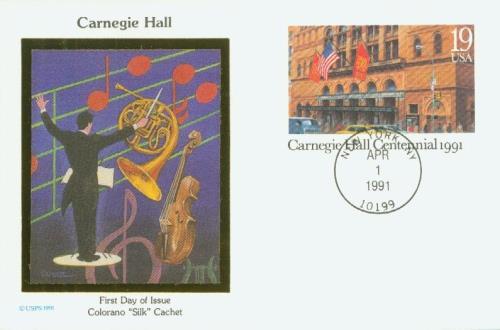 1991 Carnegie Hall Postal Card