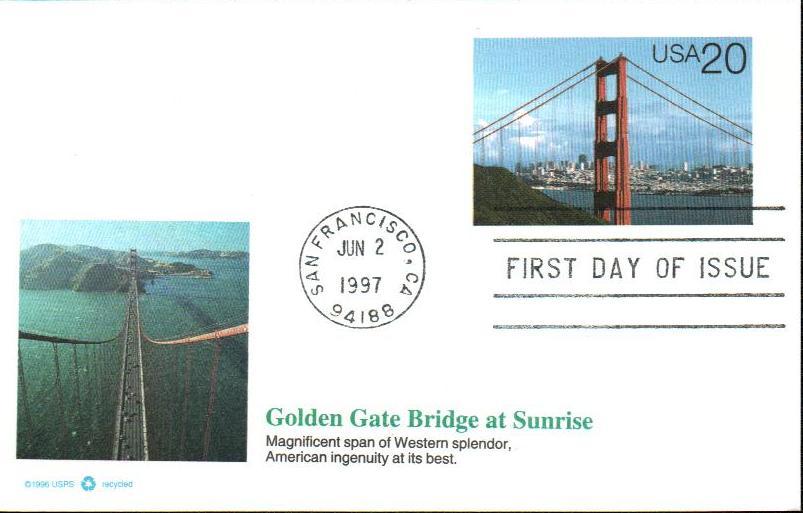 1997 20c Golden Gate Bridge in Daylight