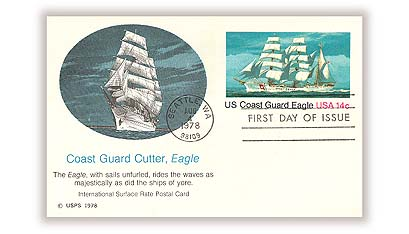 US 1978 14c Coast Guard Postal Card