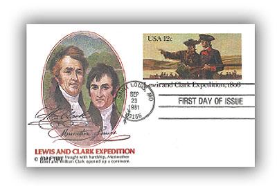 US 1981 12c Lewis & Clark Postal Card