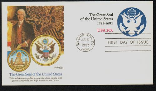 1982 20c Great Seal of the U.S. Envelope