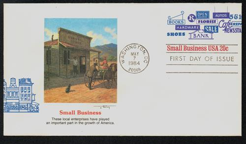 1984 20c Small Business USA Envelope
