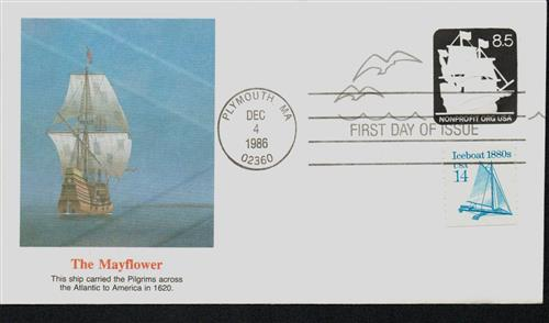 1986 8.5c The Mayflower Stamped Envelope