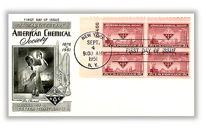 1951 3¢ American Chemical Society