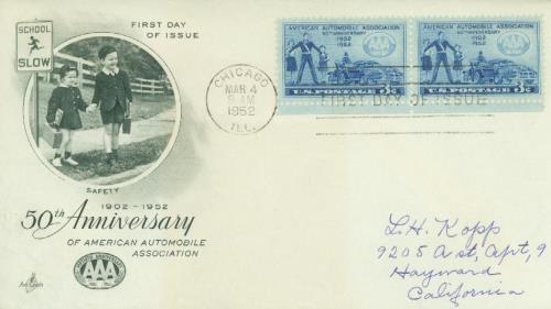 1952 3¢ A.A.A.