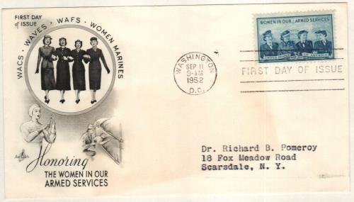1952 3¢ Service Women Stamp