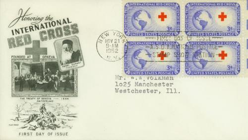 1952 3¢ International Red Cross