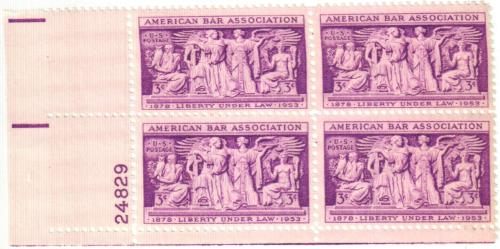 1953 3¢ American Bar Association for sale at Mystic Stamp
