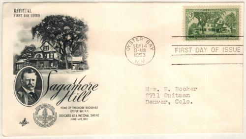 1953 3¢ Sagamore Hill