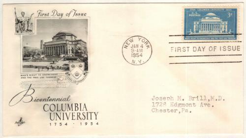 1954 3c Columbia University