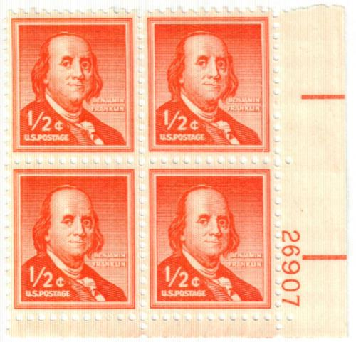 1955 Liberty Series - 1/2¢ Benjamin Franklin