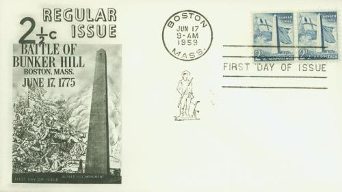 1959 Liberty Series - 2 1/2¢ Bunker Hill Monument