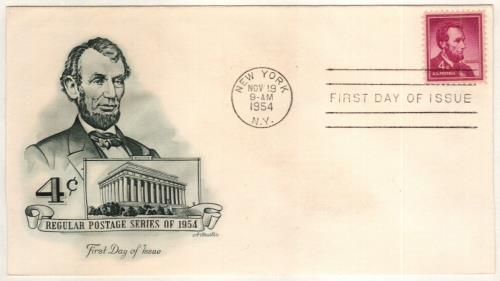 1954 Liberty Series - 4¢ Abraham Lincoln